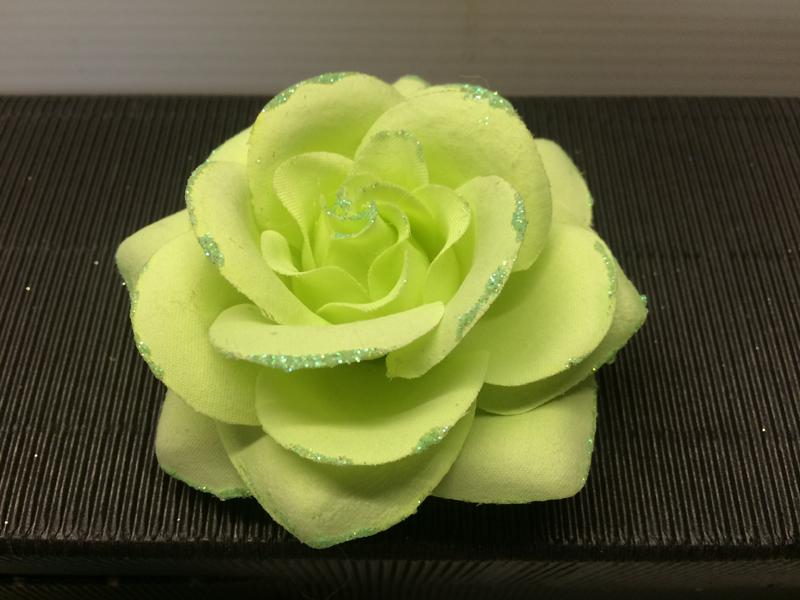 Chouchou rose vert anis