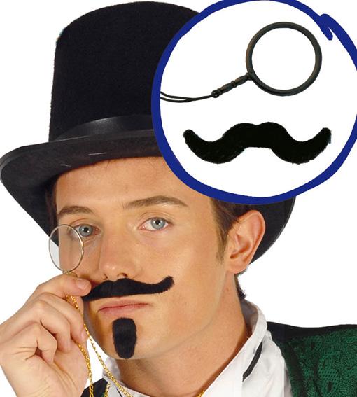 Kit monocle et moustache