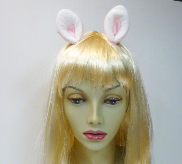 Pinces avec mini oreilles de chat blanches et roses