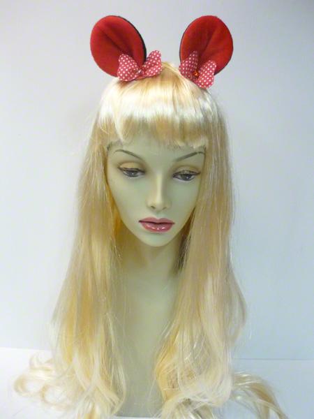 Pinces avec oreilles de Minnie rouges