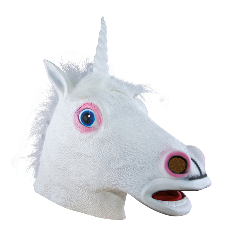Masque de licorne en latex