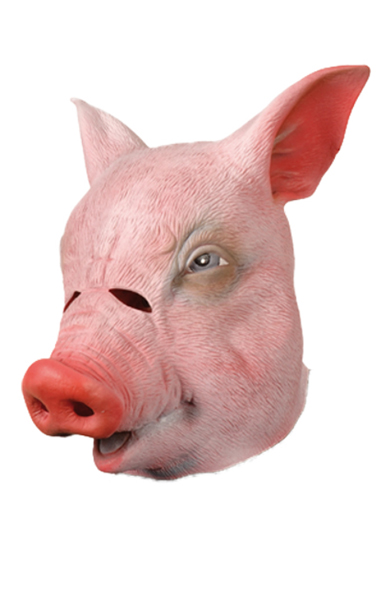 Masque de cochon en latex