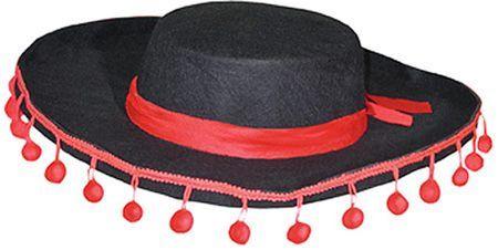 Chapeau Espagnol Avec Pompons