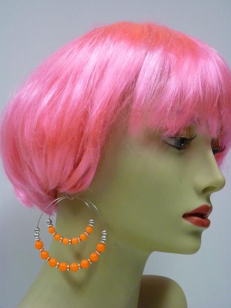 Boucles d\'oreilles fluo orange