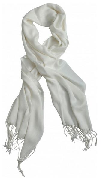 Ceinture ou écharpe Tissu blanc