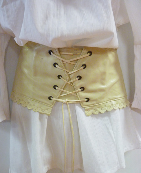 Ceinture corset beige