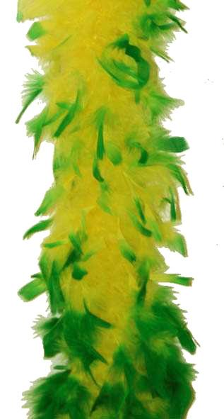 Boa en plumes vert et jaune brésil