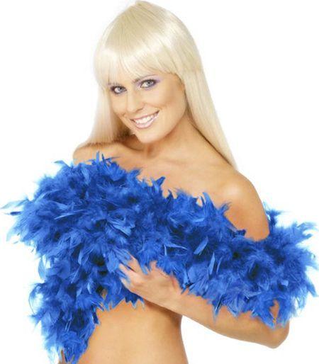 Boa En Plume Bleu 70 G