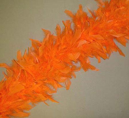 Boa En Plumes Orange