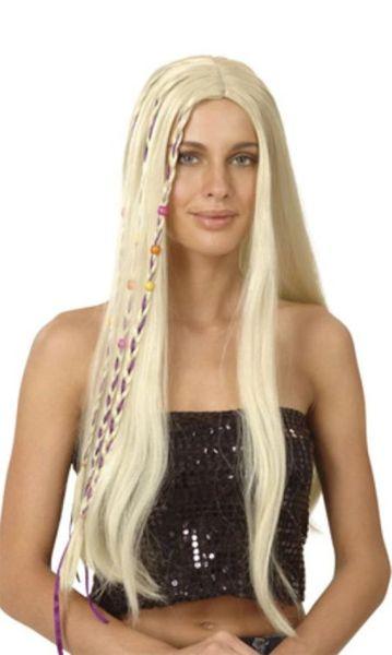 Perruque Hippie Blonde Avec Tresses