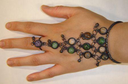 Bracelet Oriental Pierres Multicolores