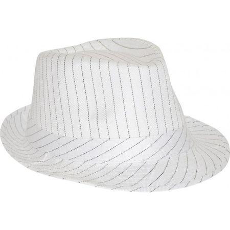 Chapeau Borsalino trilby Blanc à Rayures