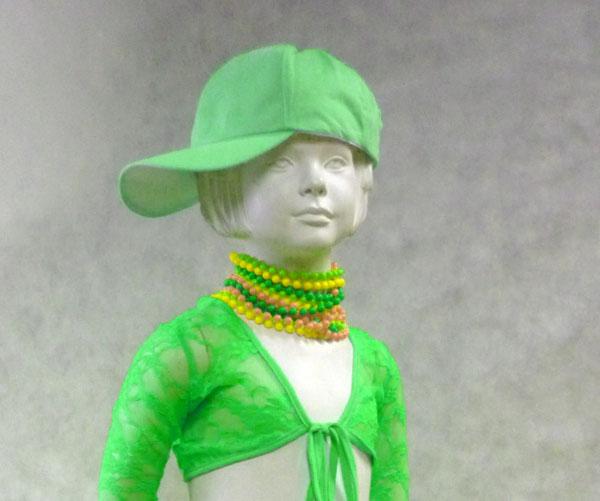 Casquette fluo verte