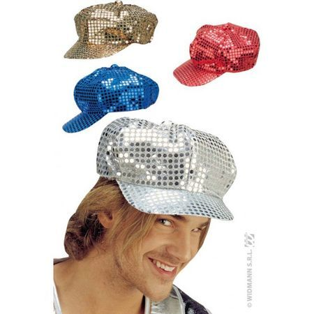 Casquette Disco à Paillettes Or