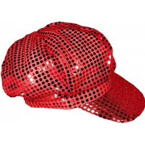 Casquette disco rouge
