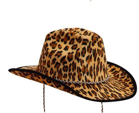 Chapeau western imprimé panthère