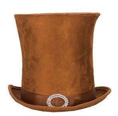 Chapeau Haut de forme rocambole  steampunk marron
