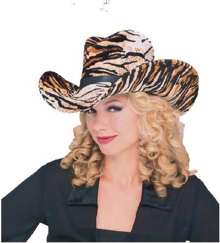 Chapeau western imprimé tigre