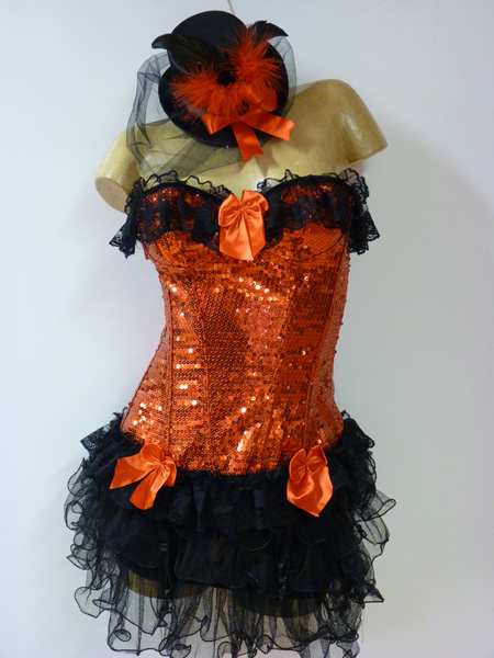 Bustier moulin rouge à paillettes