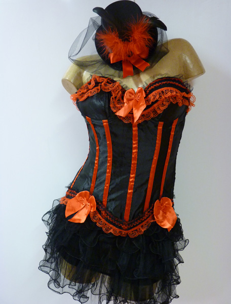 Bustier moulin rouge en satin