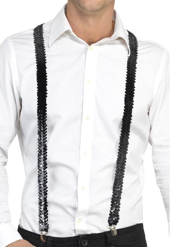 Bretelles paillettes noires