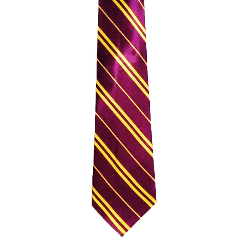 Cravate Harry jaune et bordeaux