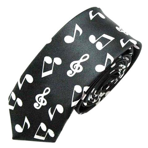 cravate-noire-notes-de-musique-z