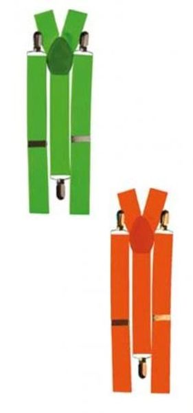 Bretelles vert ou orange fluo