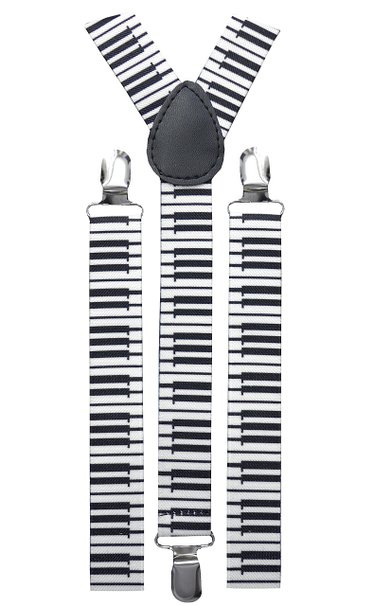 Bretelles motifs piano