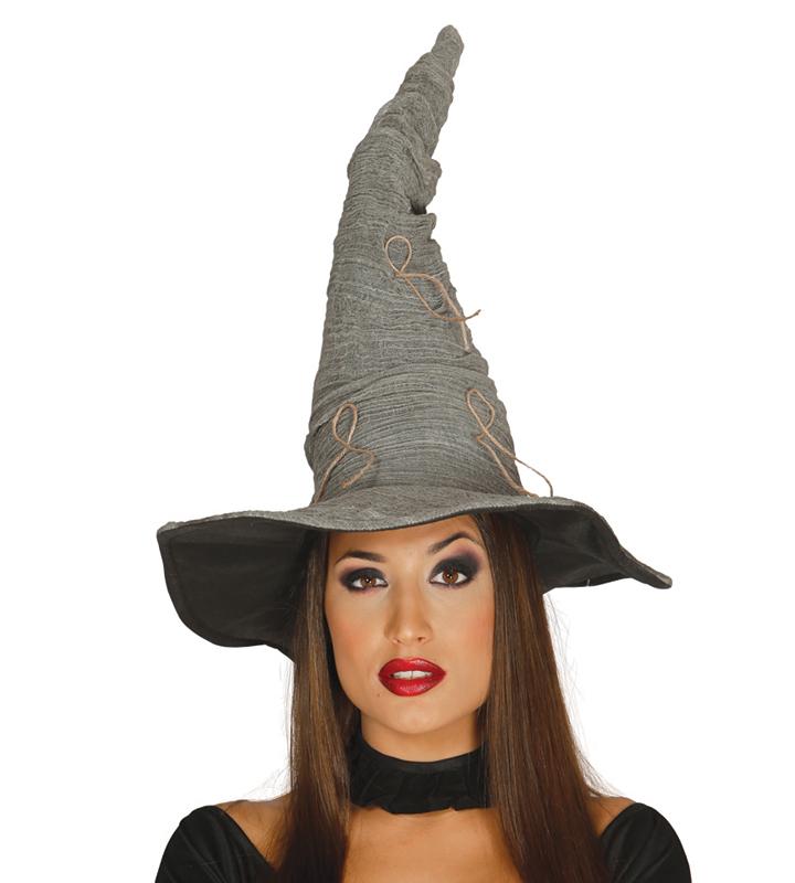 Chapeau de sorcière ou mage gris