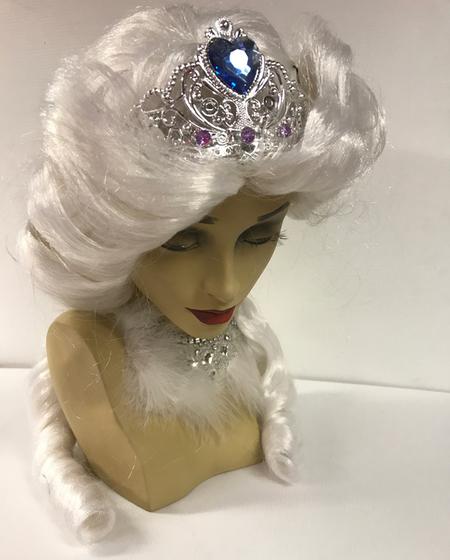 Perruque de Princesse blanche Avec Diadème