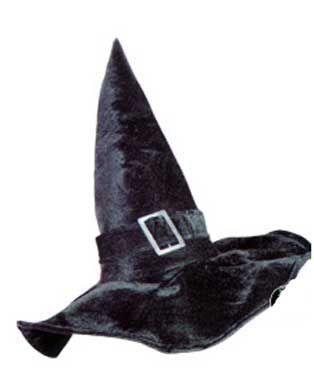 Chapeau de Sorcière Noire Avec Boucle