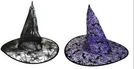 Chapeau de Sorcière Tulle Floqué
