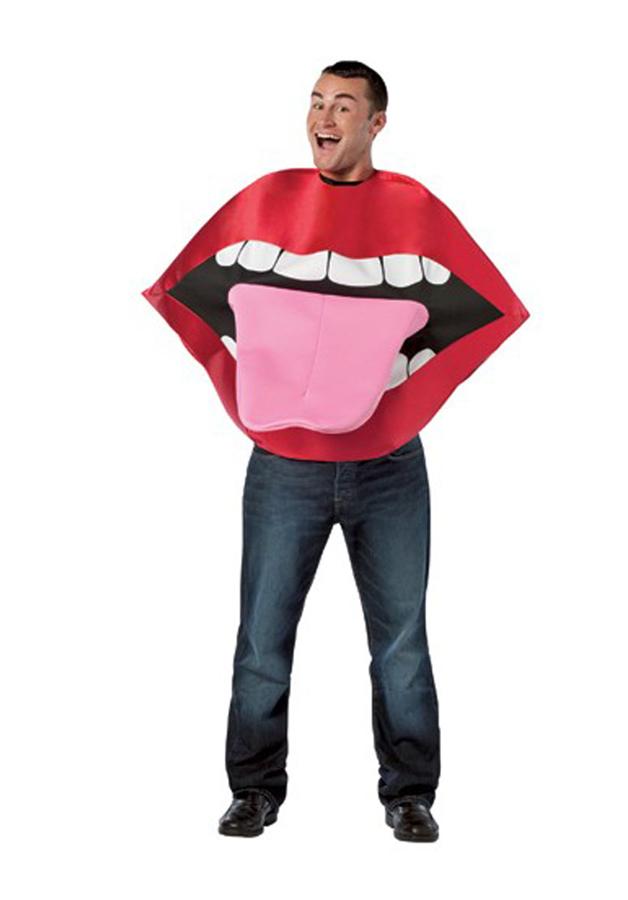 Déguisement bouche avec langue
