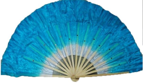 2 éventails de danse turquoise