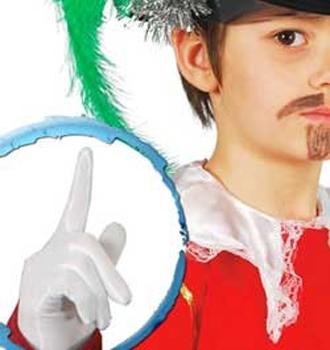 Gants blancs pour enfant