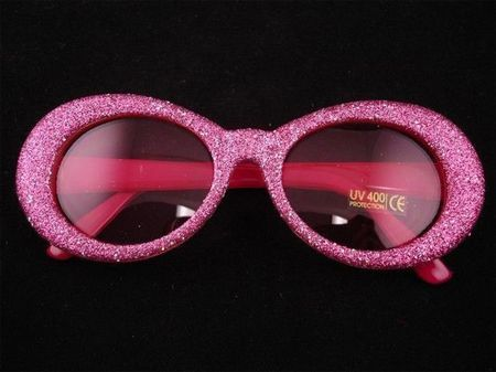 Lunettes Disco Ovales Roses