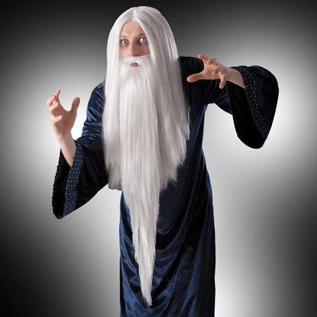 Perruque Et Barbe de Merlin