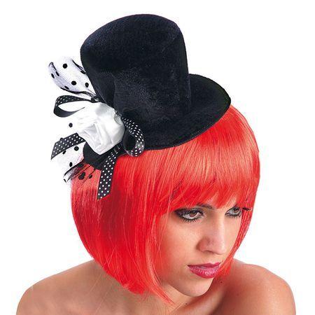 Mini Chapeau Cylindre Burlesque Noir