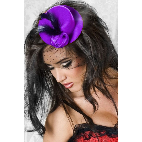 Mini chapeau burlesque violet