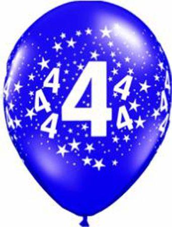 Ballons En Latex  Chiffres 4