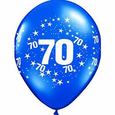 Ballons En Latex Chiffres 70