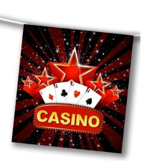 Guirlande thème casino