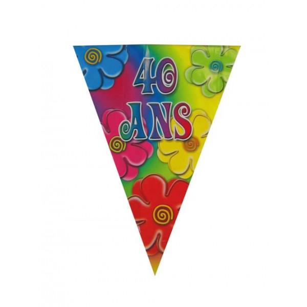 Guirlande fanions thème 40 ans