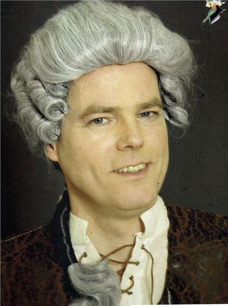Perruque Baroque Grise Homme
