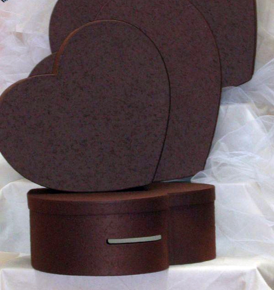 Urne coeur Chocolat 38 cm