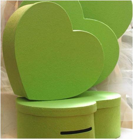 Urne coeur Vert Anis 45 cm