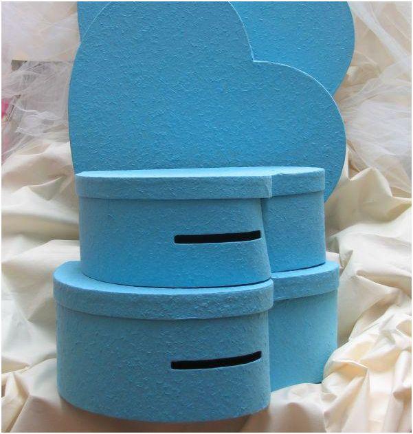 Urne coeur Turquoise 41 cm