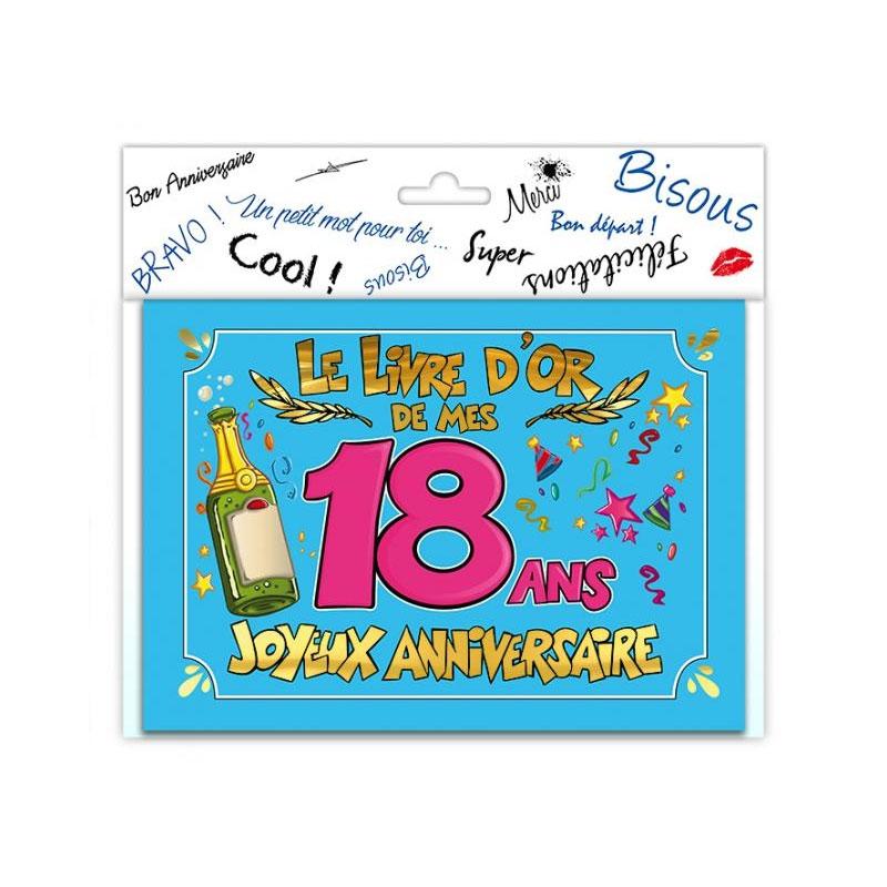 Livre d\'or anniversaire 18 ans