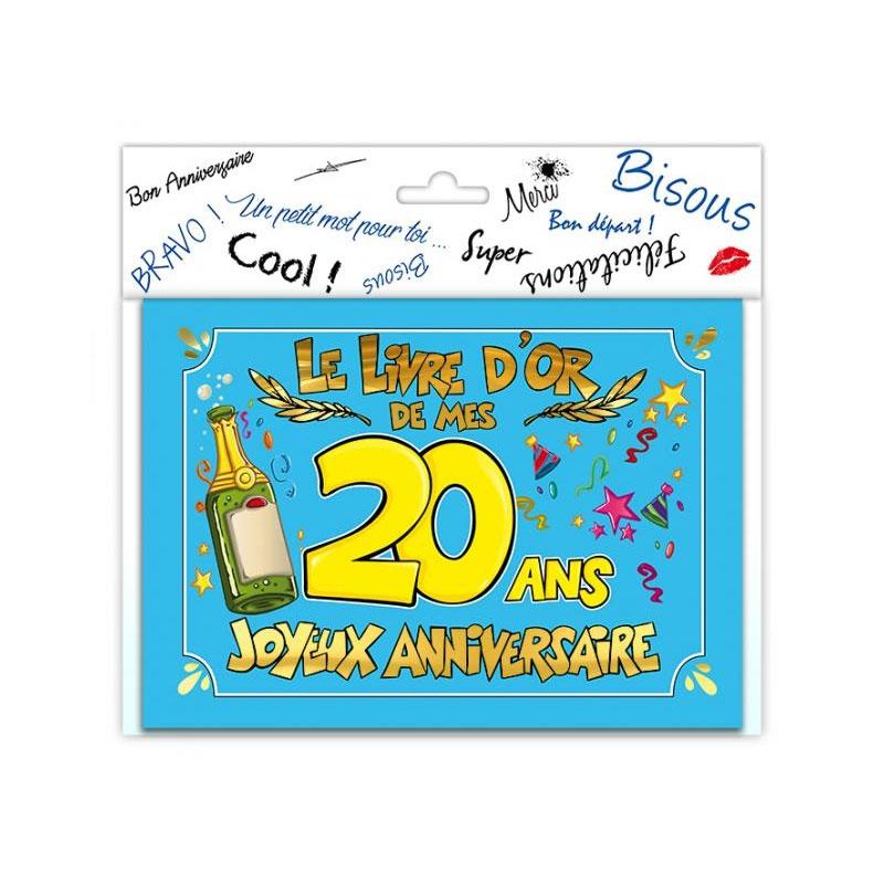 Livre d\'or anniversaire 20 ans